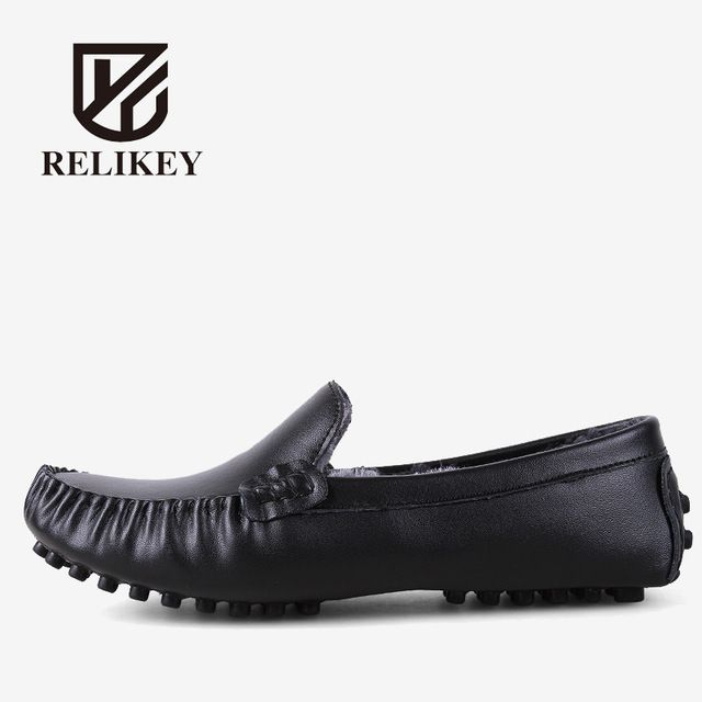 We love it and we know you also love it as well RELIKEY Brand Men Winter Loafers High Quality Handmade Genuine Leather Shoes Soft Driving Male Flats Casual Moccasins for Men just only $33.17 with free shipping worldwide  #menshoes Plese click on picture to see our special price for you