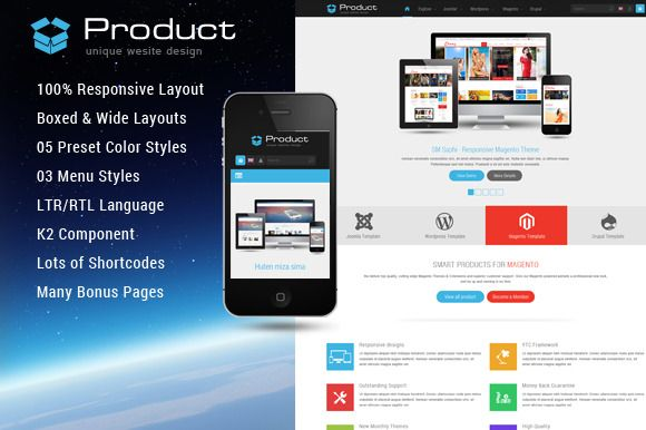SJ Product - Unique Web design for product collection.  SJ Product comes out with a simple but effective interface. You can attractively set your own featured products with name, short description, detail links by the powerful slideshow. In addition, the product categories are presented with a simple and nice look which makes your website more professional and easy-to-use.