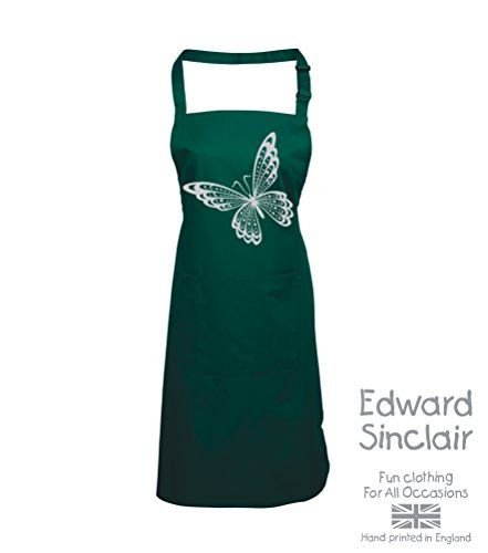 BUTTERFLY DESIGN' Bottle Green Apron with Silver Sparkling Glitter print Edward Sinclair http://www.amazon.co.uk/dp/B00UAY5GDW/ref=cm_sw_r_pi_dp_lVSgvb0XGC6TX