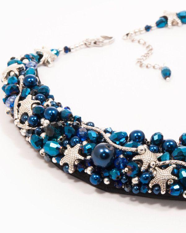 Midnight | colier statement albastru