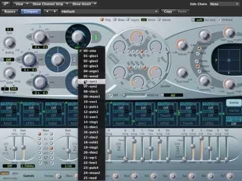 Logic Pro 9 - ES2 Synthesizer Tutorial playlist - starting on Oscillators, Global Settings