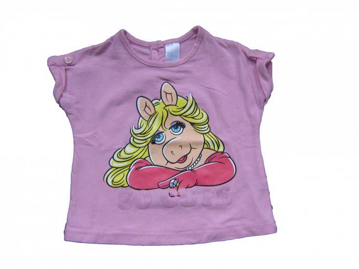 T-shirt Roze met miss piggy print Merk C&A Disney Maat 62