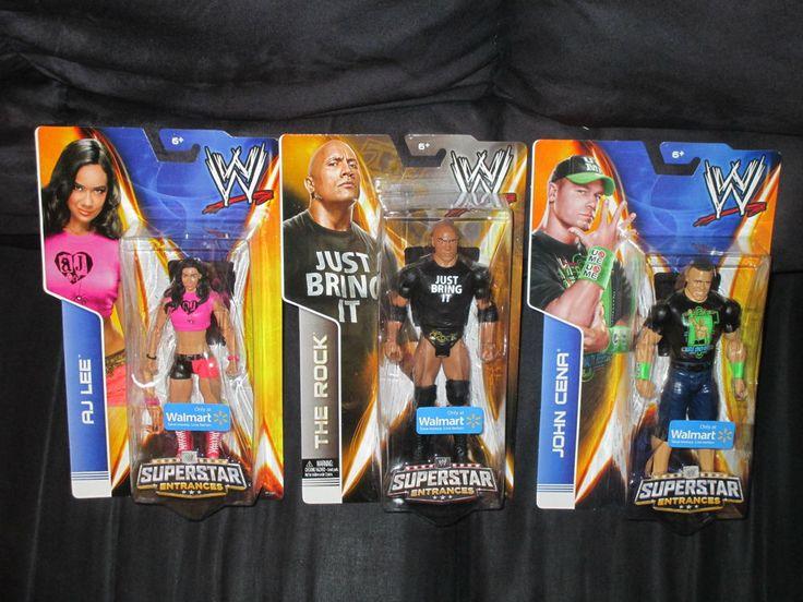 Walmart Wwe Toys : The rock john cena aj lee wwe superstar entrances
