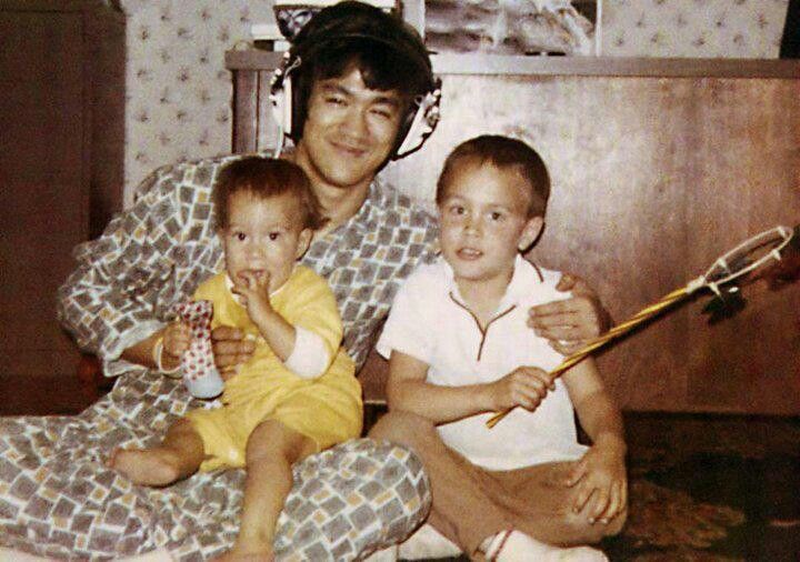 Bruce with Brandon & Shannon. Check out those pj's