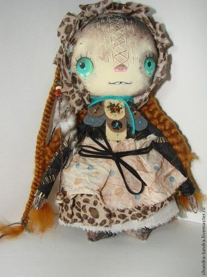 Аборигеночка - коричневый,кукла ручной работы,кукла текстильная,кукла интерьерная