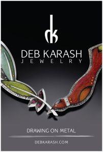 More of Deb Karash's amazing colored pencil on metal jewelry.