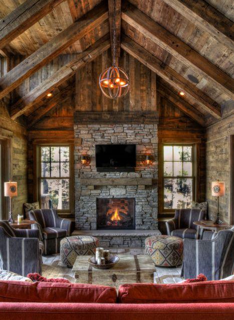 Kamienny kominek/ Stone fireplace