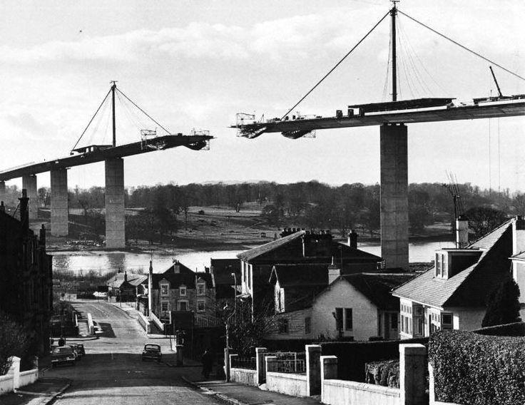 Erskine Bridge in Scotland (Under Construction 1970)