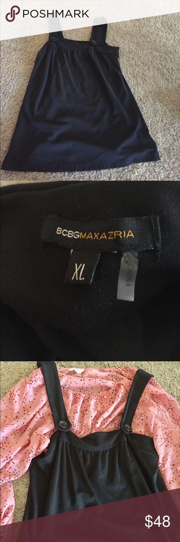 BCBGMAXAZRIA Jumper BCBGMAXAZRIA Black Jumper Dress very Cute!!! Super Versatile Gr8 Shape! BCBGMaxAzria Dresses Midi