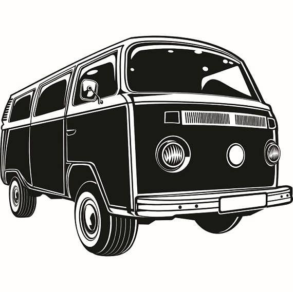 Volkswagen Vw Bus 1 Classic Vintage Retro Van Surfing Vehicle Automobile Car Camper Microbus Svg Eps Desenhos De Kombi Desenhos De Carros Desenhos De Fusca