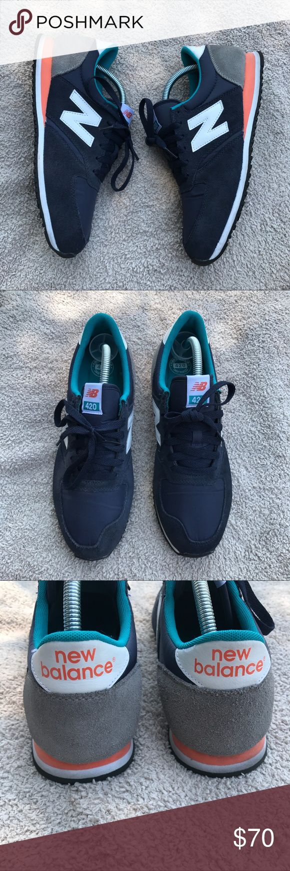 New Balance 420 Sneakers Like New  Gently worn  No holes, rips or stains.  Open to offers  Bundle discounts available New Balance Shoes Sneakers