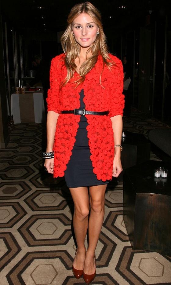 Olivia Palermo Wearing A Zara Cardigan, 2009