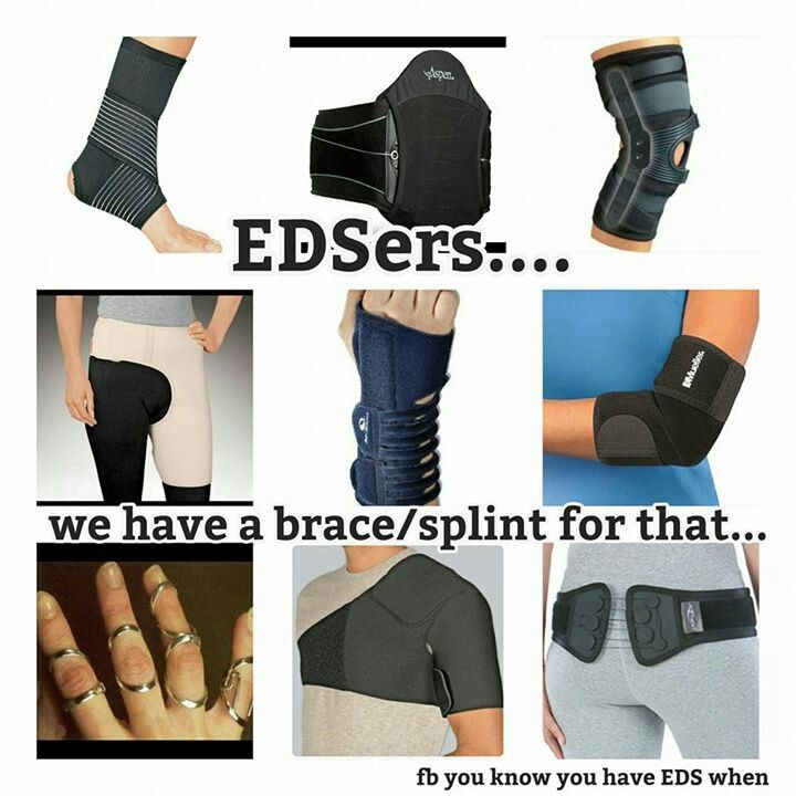 SED / EDS / Syndrome d'Ehlers Danlos hypermobile --- so they are sending me to PT to get fitted for these....oh boy...