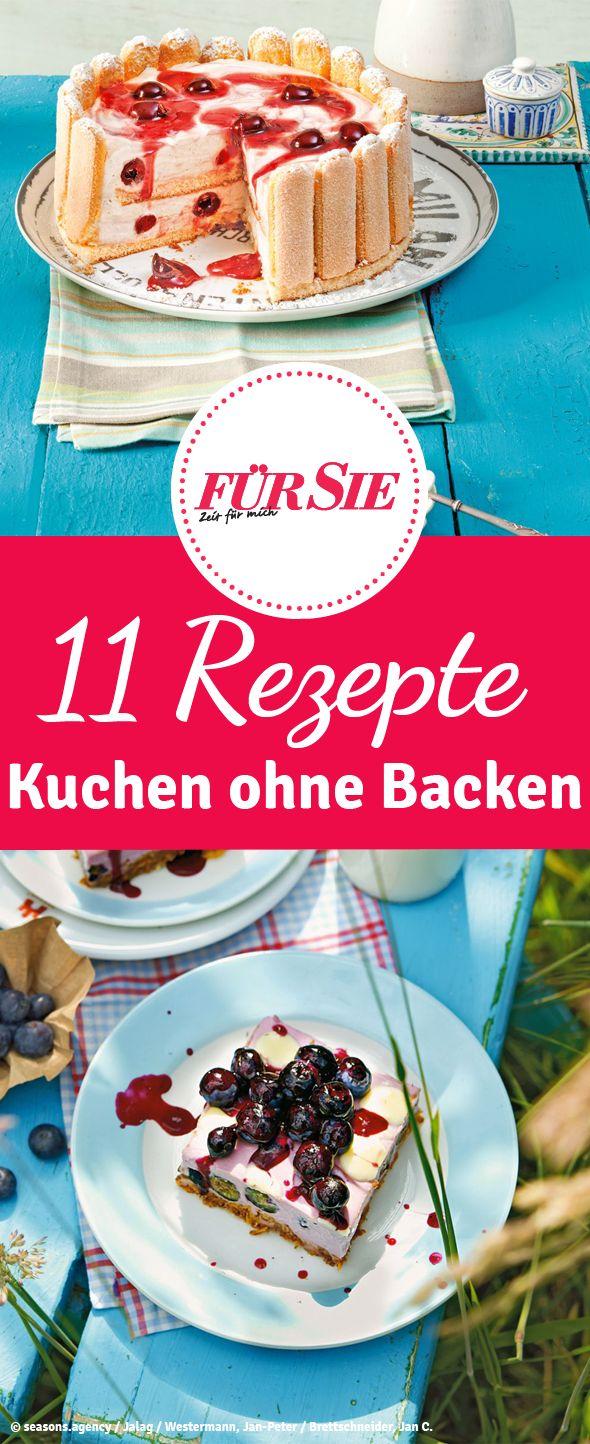 Köstliche Rezepte für Kuchen ohne Backen! Vor allem im Sommer eine echte Erfrischung und schnell zubereitet. http://www.fuersie.de/kochen/backrezepte/galerie/kuchen-ohne-backen#page1