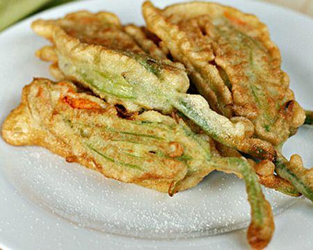 Pan-Fried Zucchini Flowers Recipe (Photo courtesy of Viviane Bauquet Farre)