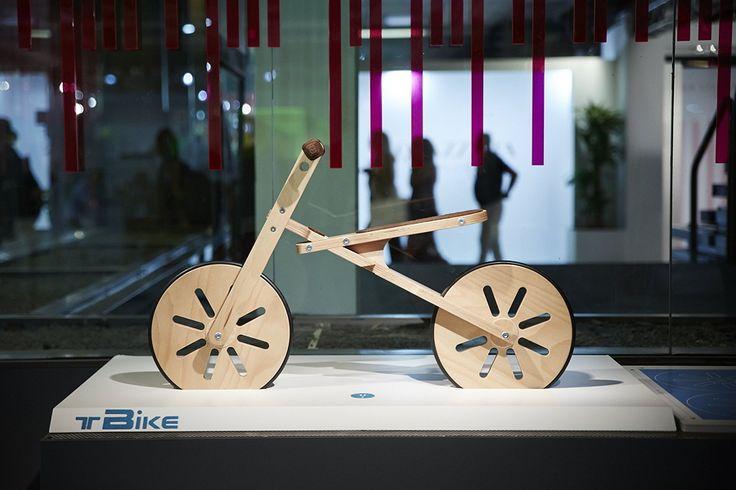 TBike by RSD Roberto Siena Design at Pitti Bimbo 83. Photo by AKAstudio-collective  #pittibimbo #pb83 #tradeshow #pittiluckynumbers #bikebike #editorials #kidsdesign #florence #kidsbike #bike #bycicle #madeofwood #certifiedwood #pushbike #laufrad #madeinitaly