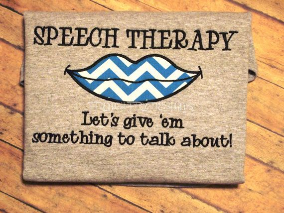 Speech Therapy Let's Give them Something to Talk About Appliqued Speech pathology T-Shirt Customized