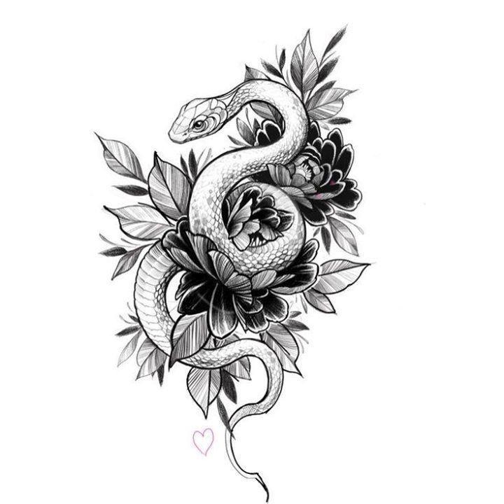 Tattoosonback Tattoos Leg Tattoos Snake Tattoo
