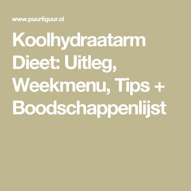 Koolhydraatarm Dieet: Uitleg, Weekmenu, Tips + Boodschappenlijst
