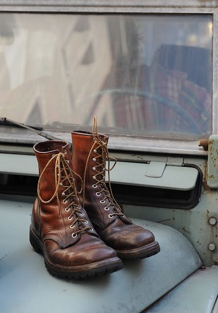 An old Jeep,boots. I could go any where.