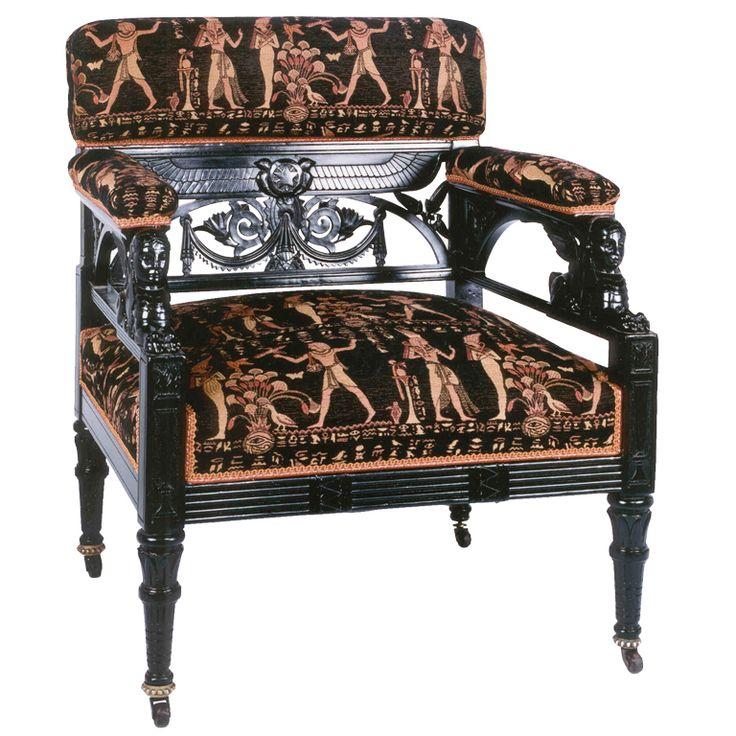 Egyptian Revival Upholstered Chair