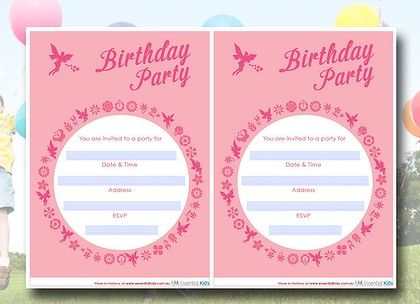 14 best Printable party invites images on Pinterest Birthday