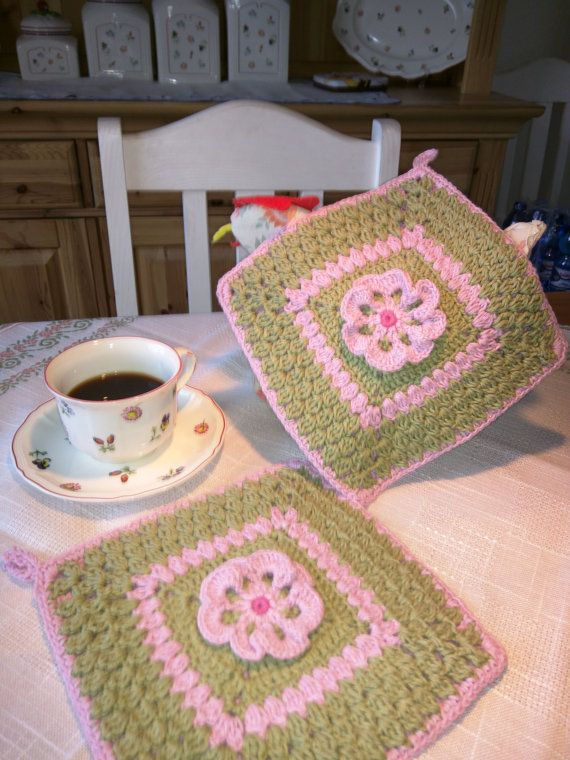 11 best Topflappen images on Pinterest   Potholders, Wool and Tutorials