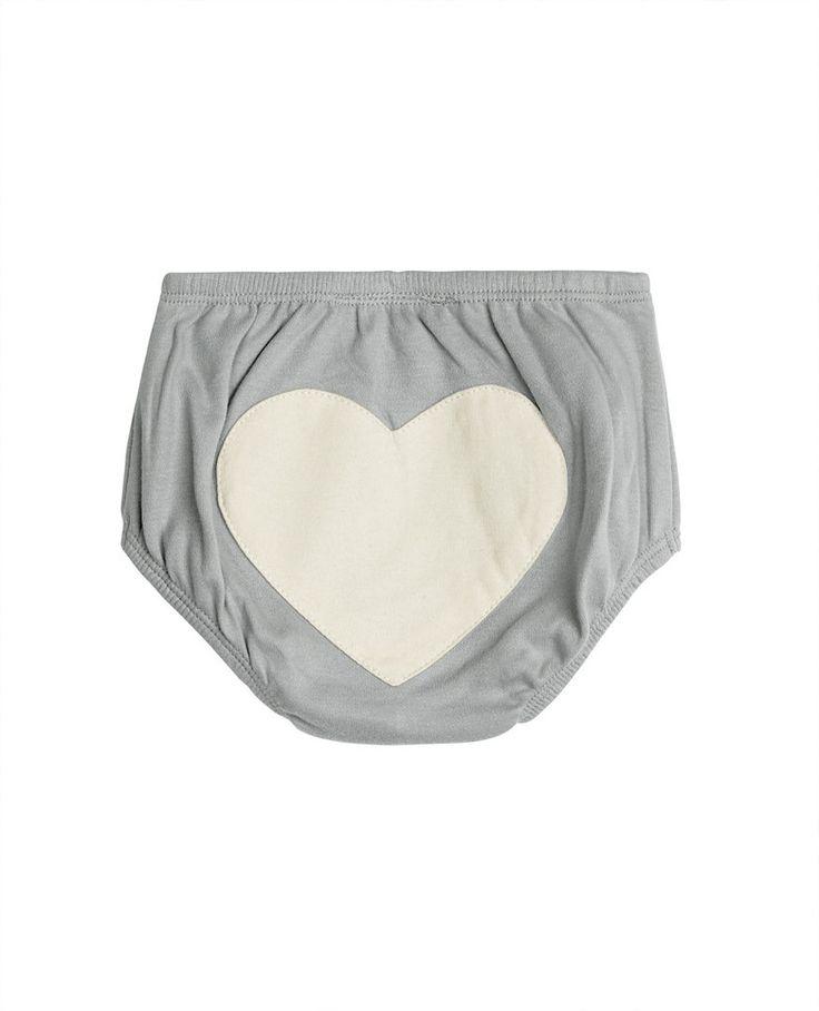 Dove Grey Heart Bloomers