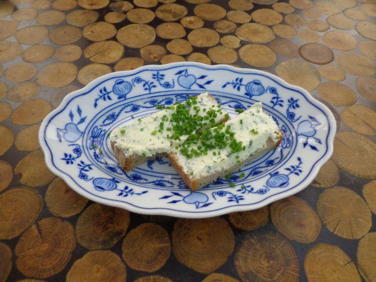 Creme fraiche on bread @ Restaurant Čestr