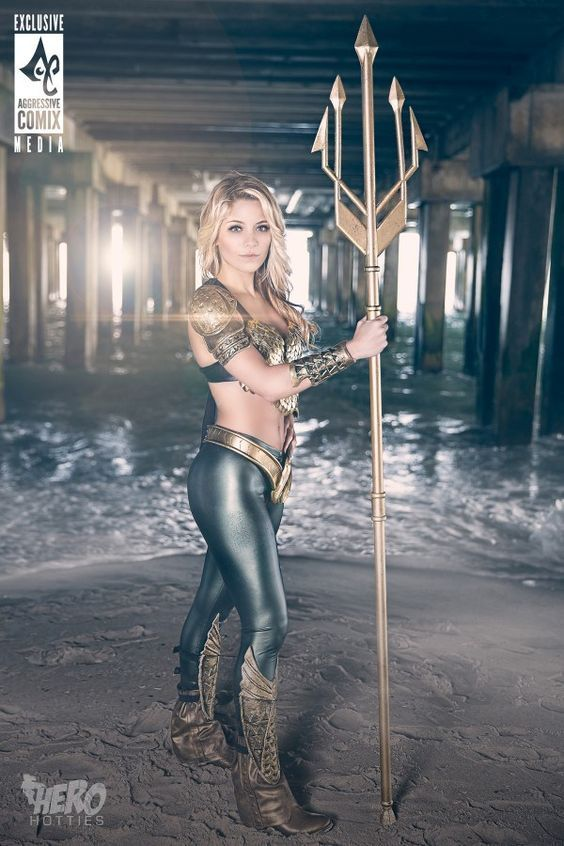 Pretty Female DC comics Aquaman cosplay costume by Laney Jade and photographer Hero Hotties #pretty #female #cosplay #costume #superhero #Aquaman #DC #comics