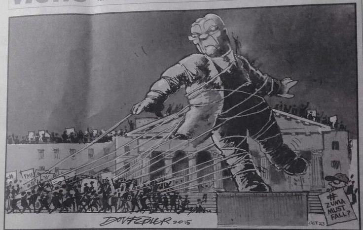 Dov Fedler's #ZumaMustFall cartoon in The Star