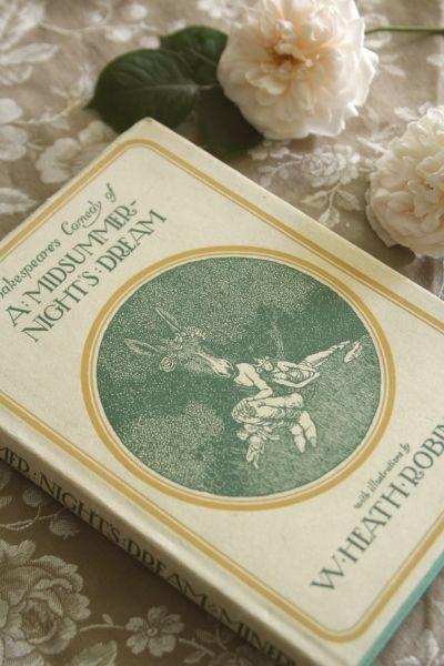 アンティークブック 古書 児童書 真夏の夜の夢 w.heath.robinson シェークスピア イギリス