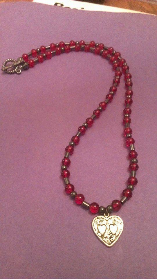 Red Hematite Beads Red glass beads...