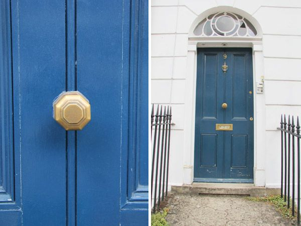 London Door With Brass Centre Pull Knob For This Item
