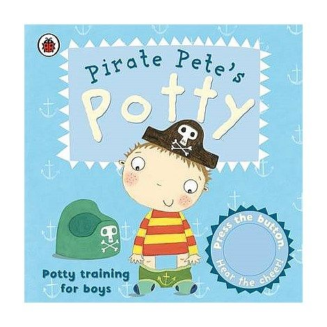 Brolly Sheets Toilet Training Book - Follow Pirate Pete on his potty training adventure and press the sound button to cheer him along!  This book is perfect for helping boys feel confident and motivated about using the potty. Visit our website for more details.