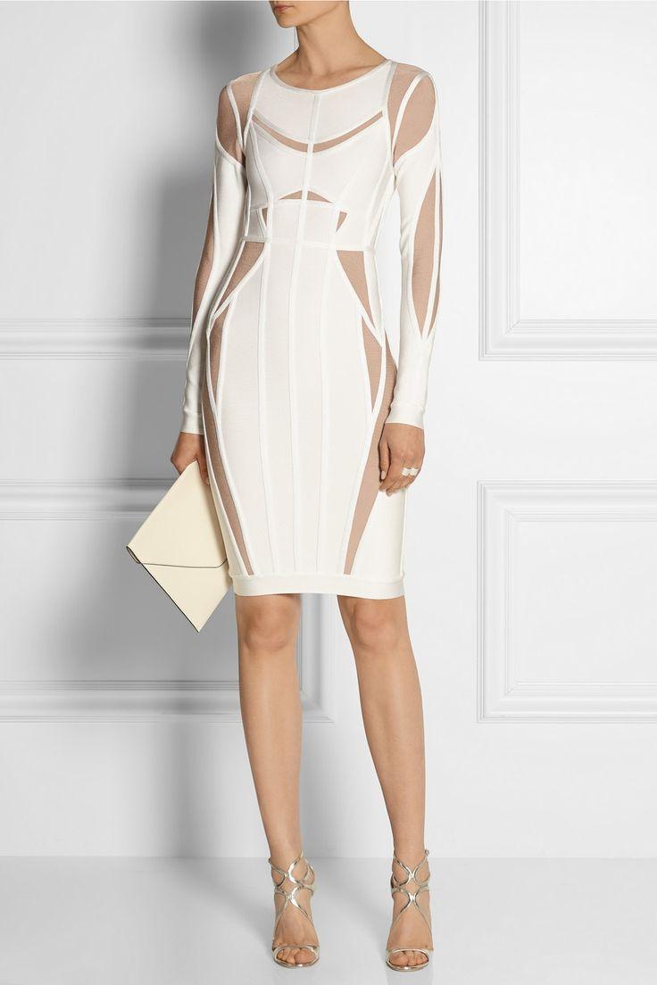 Hervé Léger|Angelique two-tone bandage dress|NET-A-PORTER.COM