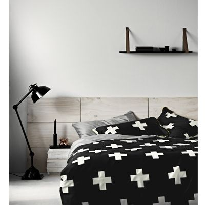 Monochrome + Crosses = stunning bedroom! Got these beauties in Queen and King!