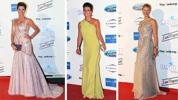 Gala Starlite: Alejandra Prat, Arancha del Sol y Anne Igartiburu.