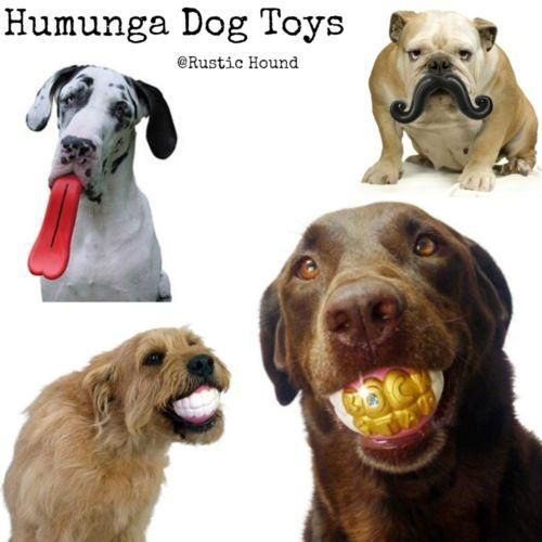Humunga Bling Rock Star Teeth Shaped Ball, Tongue, Mustache Dog Toy
