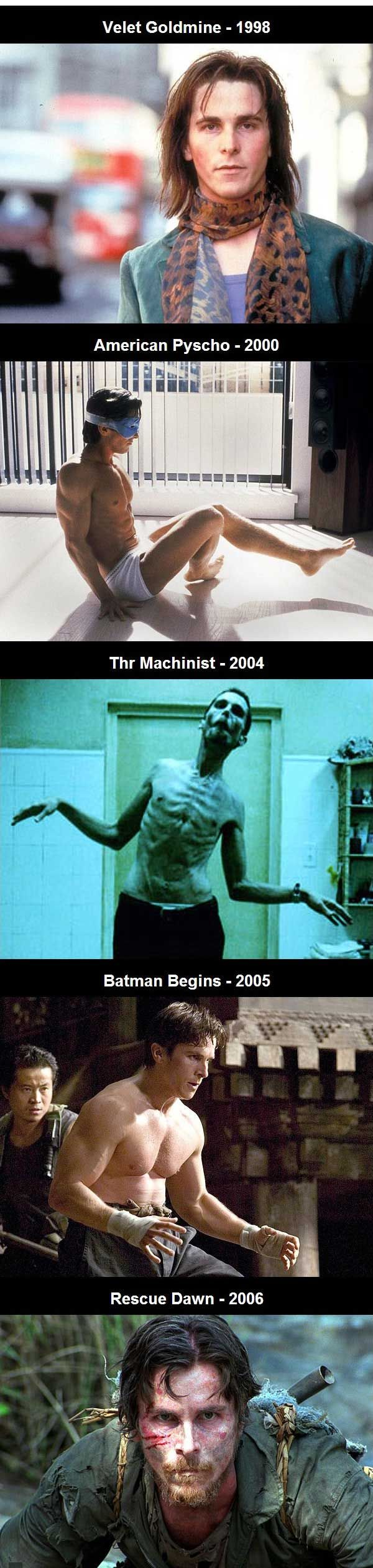 Christian Bale body transformations throughout the years. (12 Pics)!