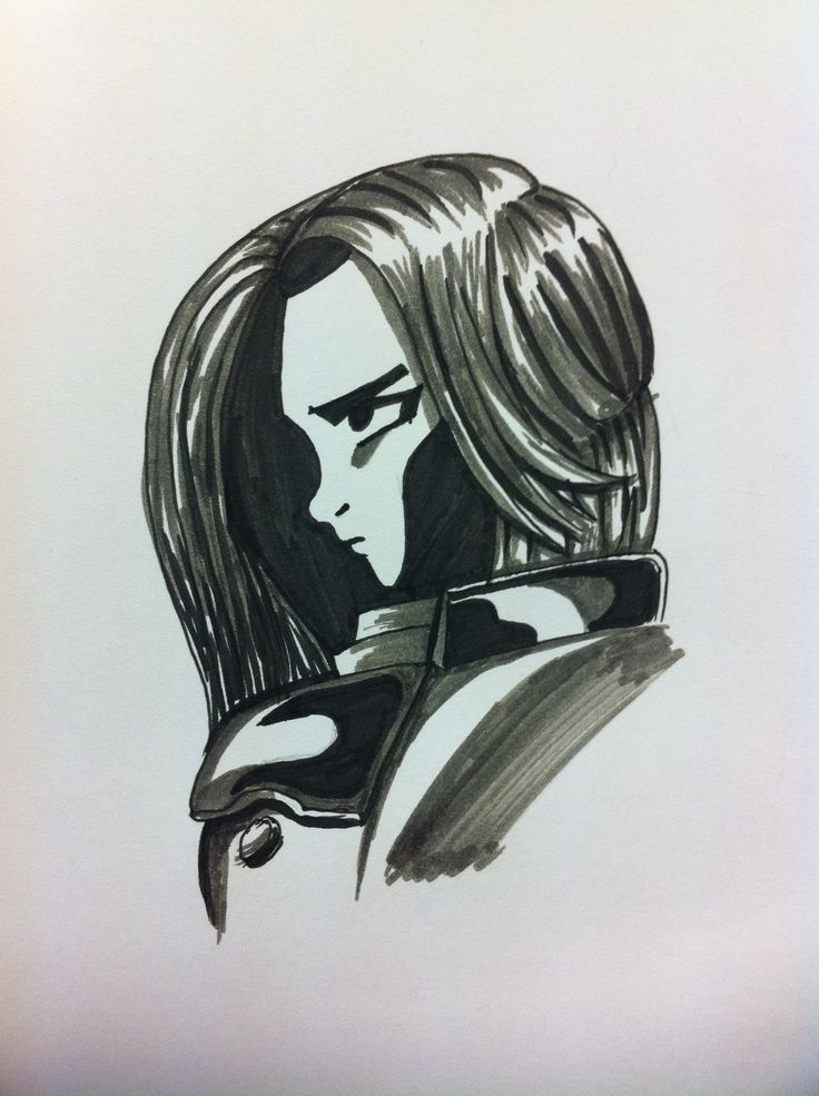 My first drawing made with my Faber-Castell manga drawing pen set :)