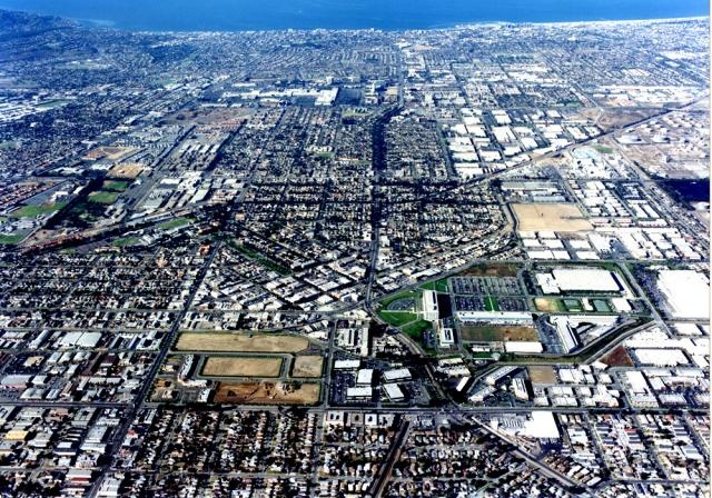 Ariel view of Torrance, California