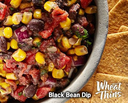1 hr to make, serves 24 -- INGREDIENTS (Vegan) -- PRODUCE • 1 can Black beans • 2 tbsp Cilantro, fresh • 1 can Corn • 1/2 cup Red onions • 1 can Tomatoes and green chiles PASTA & GRAINS • 1 Wheat NUTS & SEEDS • 1 tsp Cumin, ground
