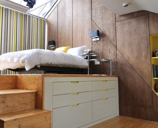 Modern loft bed perfect for small bedrooms