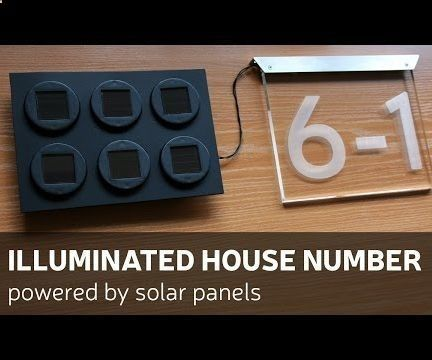 This time I made illuminated house number powered by solar panels.How I made it - you can check by looking DIY video or you can follow up instructions bellow. For this build you will need: Materials: 6 solar garden lights1 AAA rechargeable batterya piece of plastic boardsome wires and isolating materialsL shape aluminium profileTools:Soldering ironDrill and bitsScrew driverRotary tool (for example Dremel)