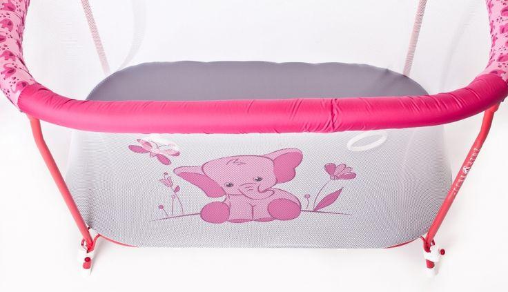 Манеж детский прямоугольный Розовый слон
