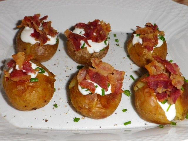 Små bagte kartofler med fyld