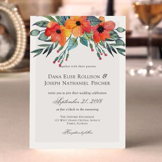 Save your money with your wedding stationery needs. This is a free beautiful wedding invita...