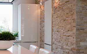 Barroco Natuursteenstrips, Steenstrips, Glamour Gold, Wand in keuken, regio Amsterdam