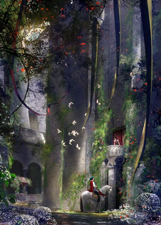 "Disney Snow White artwork ""I Heard You Singing."""